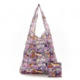 Eco Chic Lilac Dogs Shopper Bag