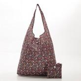 Eco Chic Black Ditsy Shopper Bag