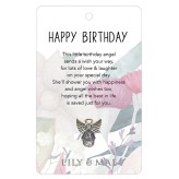 Happy Birthday - Guardian Angel Pin