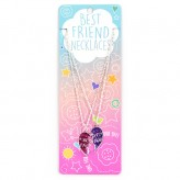 Pink Glitter Heart BFN12 BF Necklace
