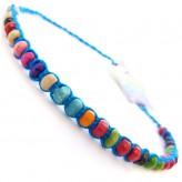 Sml Beads Blue A2 - Friendship Brac.