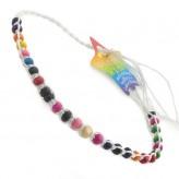 Sml Beads White A7 - Friendship Brac.