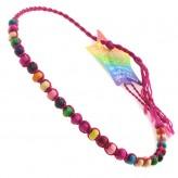 Sml Beads Pink A9 - Friendship Brac.