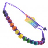 Lge Beads Purple C7 - Friendship Brac.