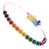 Lge Beads Pink C9 - Friendship Brac.