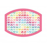 Hearts Rainbow - Adults Face Cover F2426