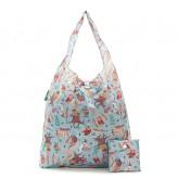 Eco Chic Blue Owl Shopper Bag