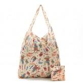 Eco Chic Beige Owl Shopper Bag