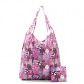 Eco Chic Purple Stacking Cat Shop Bag