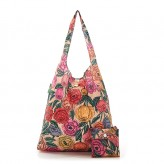 Eco Chic Beige Peonies Shopper Bag