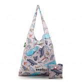 Eco Chic Grey Sea Creatures Shopper Bag