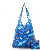 Eco Chic Blue Sea Creatures Shopper Bag