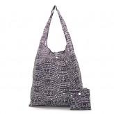 Eco Chic Black Music Shopper Bag