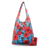Eco Chic Blue Poppies 2020 Shopper Bag