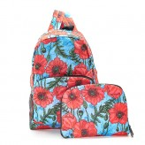 Eco Chic Blue Poppies Backpack