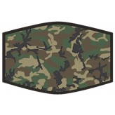 Green Camo - Adults Face Cover F2431