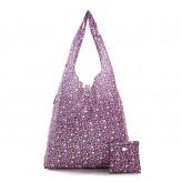 Eco Chic Purple Ditsy Shopper Bag