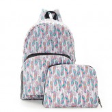 Eco Chic White Feathers Backpack