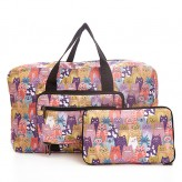 Eco Chic Multiple Stacking Cats Holdall