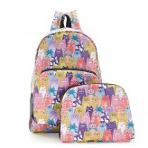 Eco Chic Multi Stacking Cats Backpack