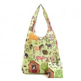 Eco Chic Blue Wild Butterfly Lunch Bag