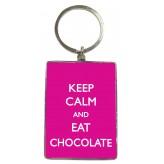 KR101 Keep Calm Choc - BSOL Key Ring