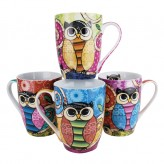 Curly Owls Mugs - Asst