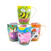 Animal Sketch Mugs - Asst