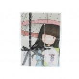 213GJ02 Tea Towel Puddles Love - Gorjuss