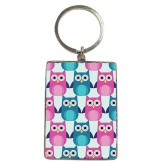 KR148 Owl Pattern - BSOL Key Ring