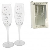 Champagne Flute Wedding Day- AmoreG312WD