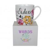 Sister Words Of Life - Barrel Mug