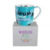 Cherish Words Of Life - Barrel Mug