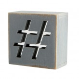 MM1030 - Hashtag  Mirror Mirror Block