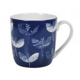 Navy Floral Gift Boxed Mug