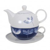 Navy Floral Gift Boxed Tea For One