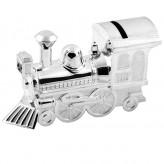 Silver Money Box Train Bambino 6289