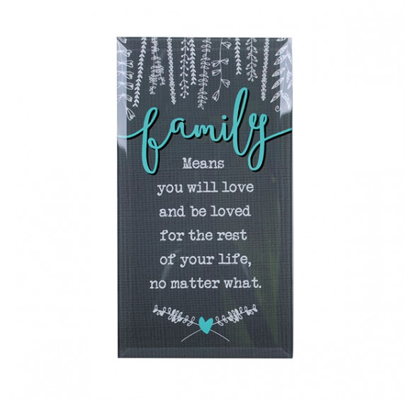 Words Of Life Glass Plaque Display