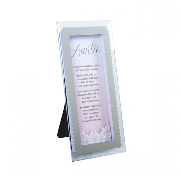 With Love 3D Glass Plaque Display