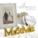 Mr & Mrs Gold Mantel Plaque Amore WG584
