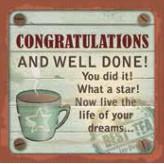 Congratulations - Cuppa Coaster