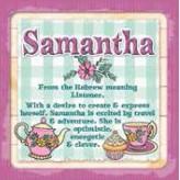 Samantha - Cuppa Coaster