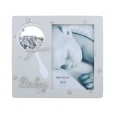 Grey Baby Photo Frame 4x6
