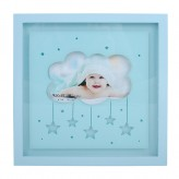 Light Up - Wooden Photo Frame Blue