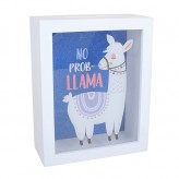 Llama - Money Box White/Blue